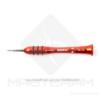Отвертка прецизионная звездообразная BAKU BK-338 0,8 мм 1,5 и 2  мм   3 вида   Прецизионный наконечник из высококачественной стали.     Эргономичная о