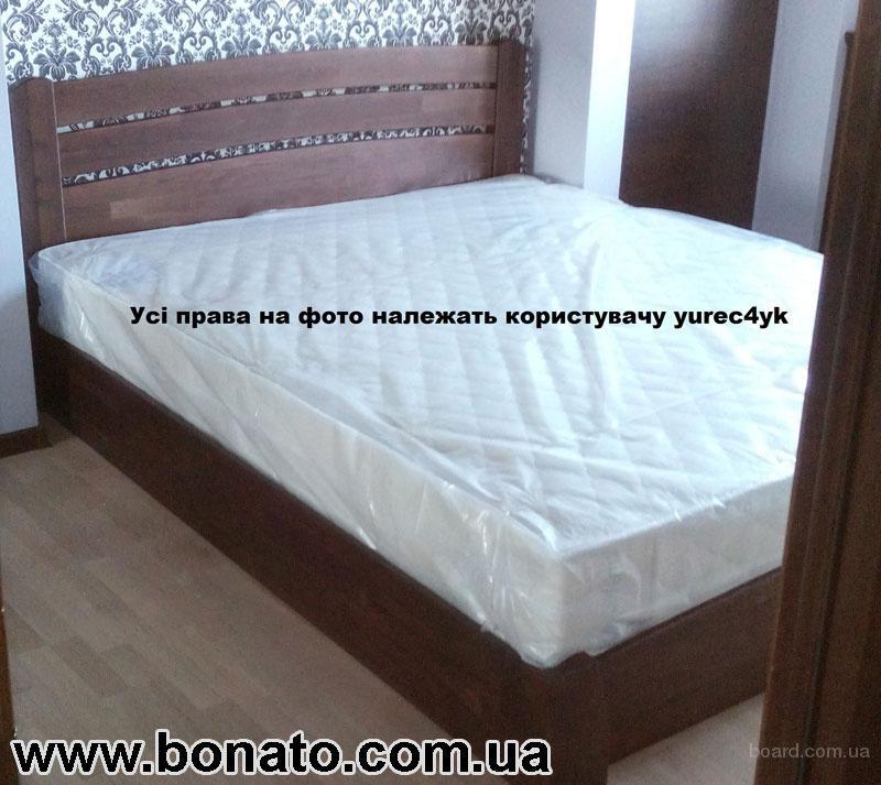 Деревянная кровать с подъёмным механизмом + матрас (кокос и отдельные пружины)