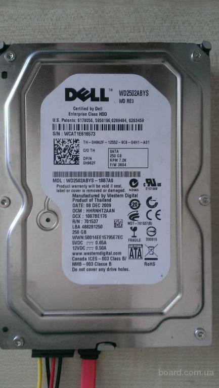HDD DELL 3.5 250GB SATA 7200 жесткий диск