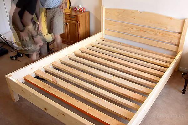 Сделать из дерева двуспальную кровать