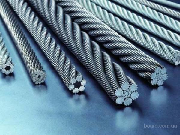 Канат стальной одинарной свивки 3,4 ГОСТ 3062