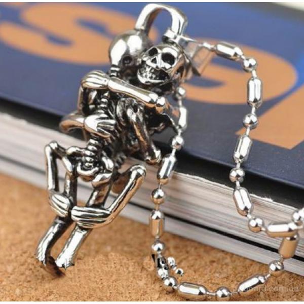 Кулон из нержавеющей стали скелеты