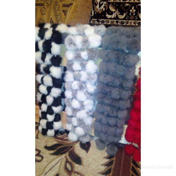 Женские меховые шарфы из кролика