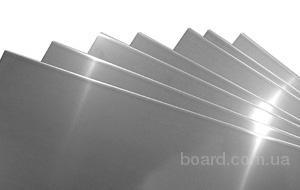Лист нержавеющий AISI 430 (12Х17) поверхность зеркальная + защитная пленка 1,0х1250х2500