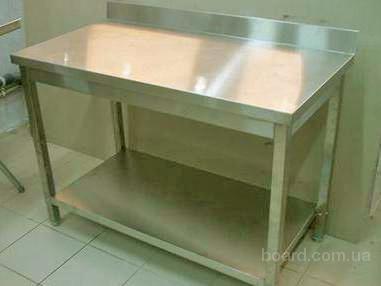 Продам бу стол из нержавеющей стали для столовой