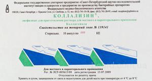 Глазные лекарства Коллализин ампулы