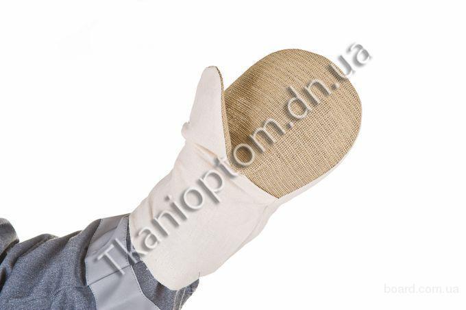 Рабочие рукавицы х/б с брезентовым наладонником 480г/м²