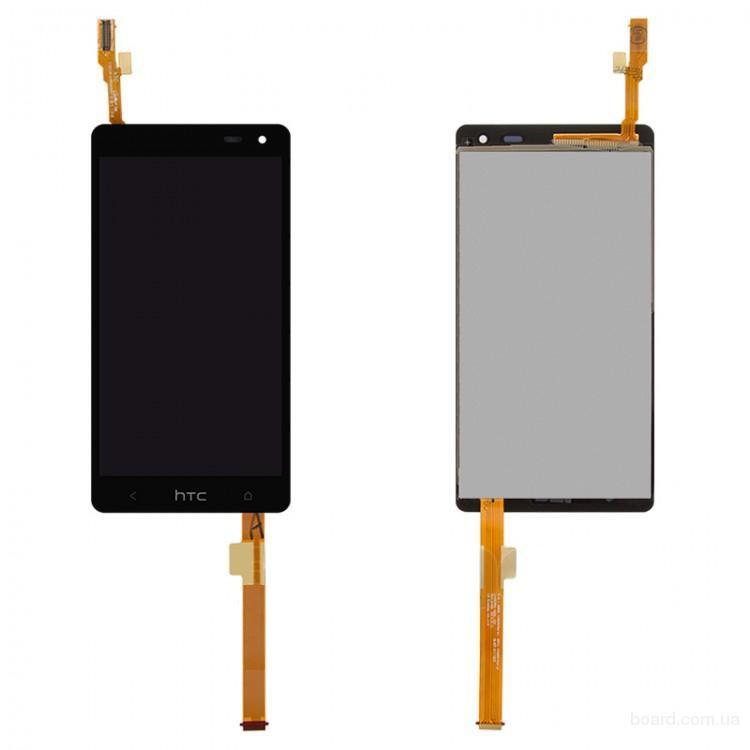 Дисплей для мобильного телефона HTC Desire 600 Dual sim Desire 606w Чёрный с Тачскрином Комплект