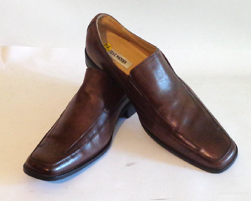 Туфли фирменные кожаные Steve Madden (ТУ – 090)  45 размер