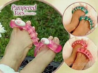 Массажер для пальцев ног Pampered Toes Sensation, массажер для ног Пэмперт Тоуз Сенсейшен