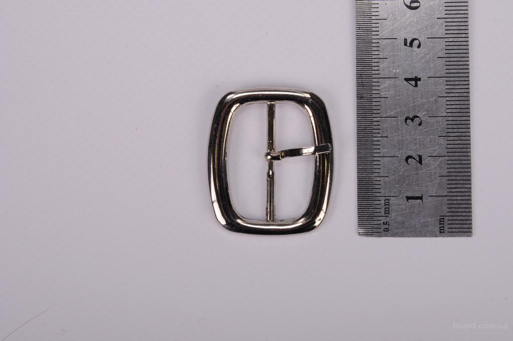 Пряжка металлическая для сумок и других аксессуаров 30 мм - двух видов, цвет никель..