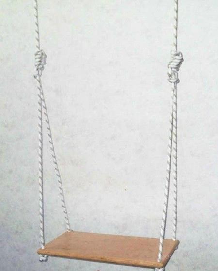 Веревочный качели для взрослых (до 150 кг)