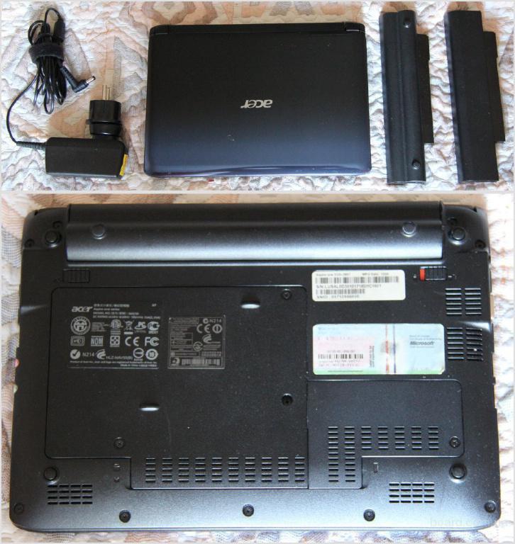 Нетбук Acer Aspire One 532h, в идеале, 2 акб (1 усиленный)