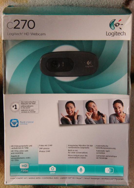Веб-камера Logitech WebCam C270 (960-001063)