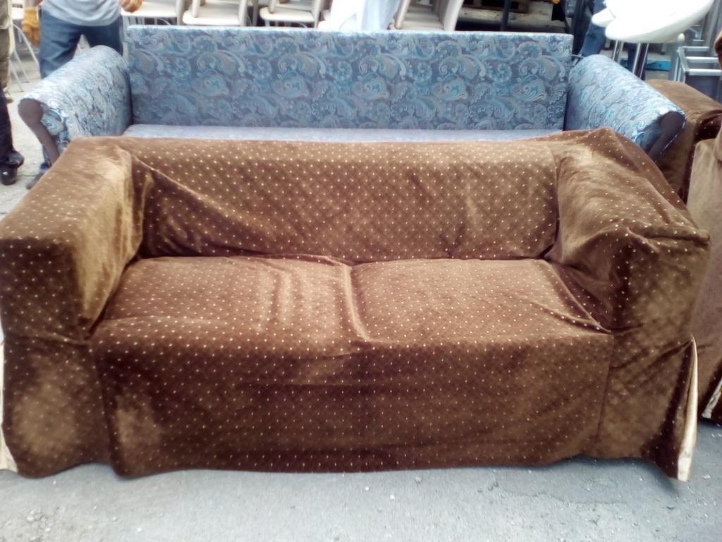 Продам коричневые тканевые диваны бу