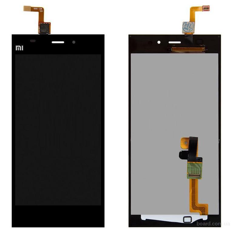 Дисплей для мобильного телефона Xiaomi Mi3 черный с сенсорным экраном Original