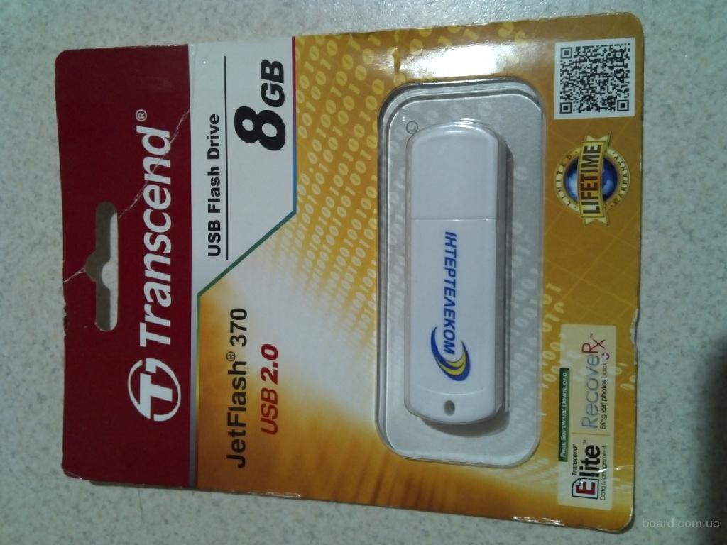Продам флешку USB Transcend JetFlash370 8gb
