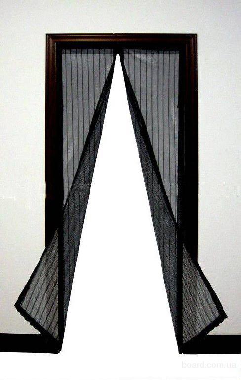 Дверная сетка на магнитах Магнетик Меш 210 * 100 см, анти москитная штора