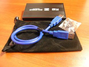 Внешний карман USB 3.0, Новый! Полный комплект. Хорошее качество.