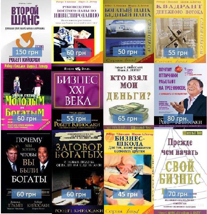 Книги: Кийосаки, Трейси, Хила, Шефера и возможность применения навыков с книг в реальной жизни