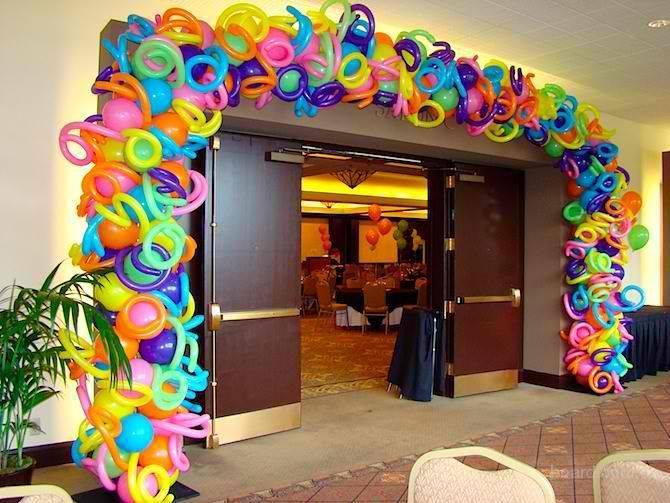 арки и гирлянды из воздушных шаров