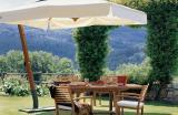 Консольный зонт XL с квадратным куполом - 3x3м для кафе и ресторанов, частного дома
