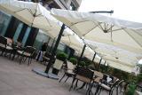 Уличный двухкупольный консольный зонт Double XL 6х3м для кафе, ресторанов и частного дома