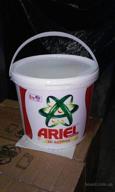 Стиральный порошок Ariel и Persil 6 кг (ведро). 75 стирок.