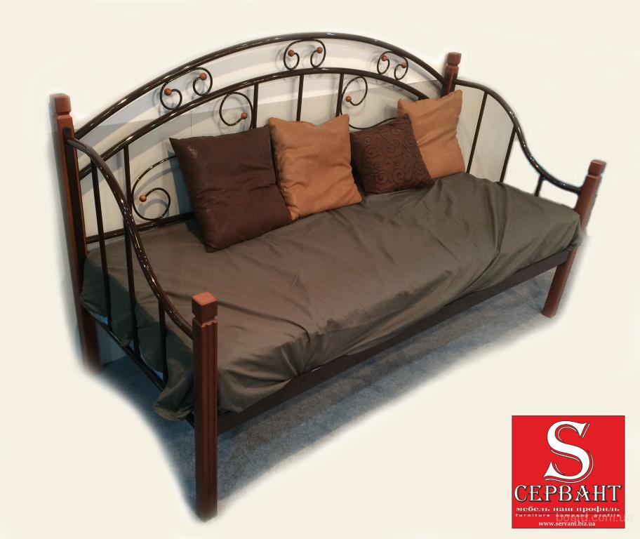 Кровать металлическая кованная