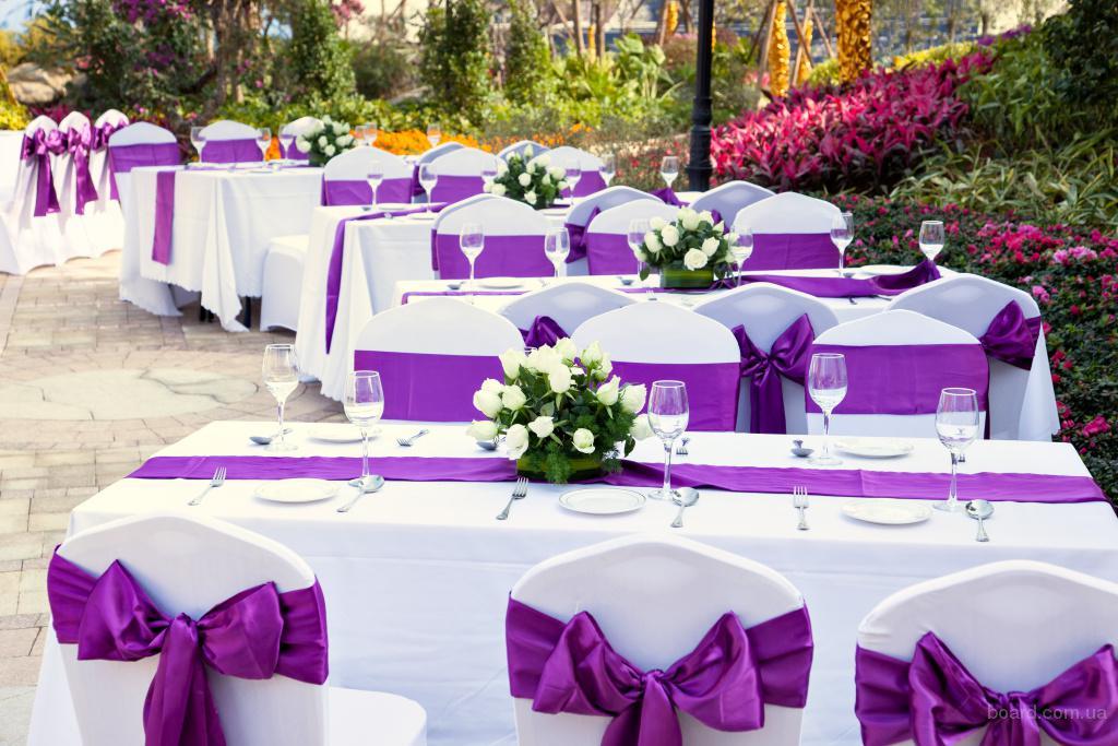 Прокат свадебного текстиля, чехлы на стулья!