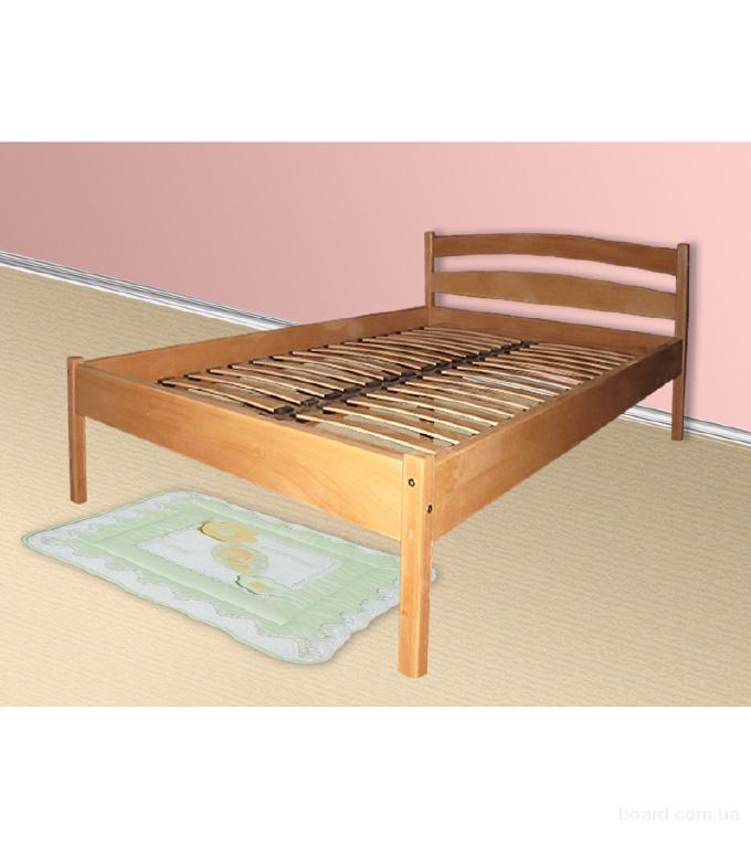 Двуспальная кровать из бука 160х200см.