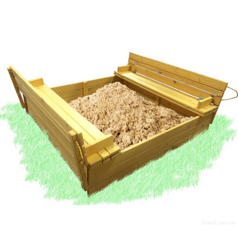 Песочница с крышкой 150х150см.