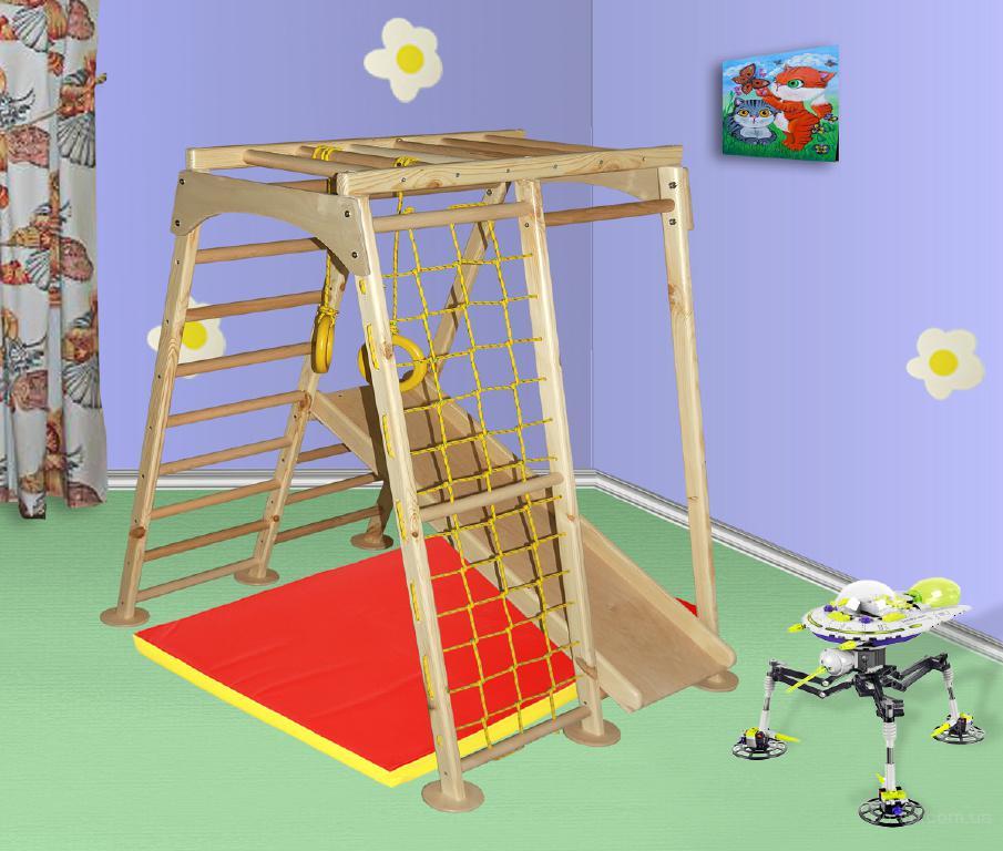 Спортивно-игровой комплекс Астронавт сосна, спортивный уголок, детская горка