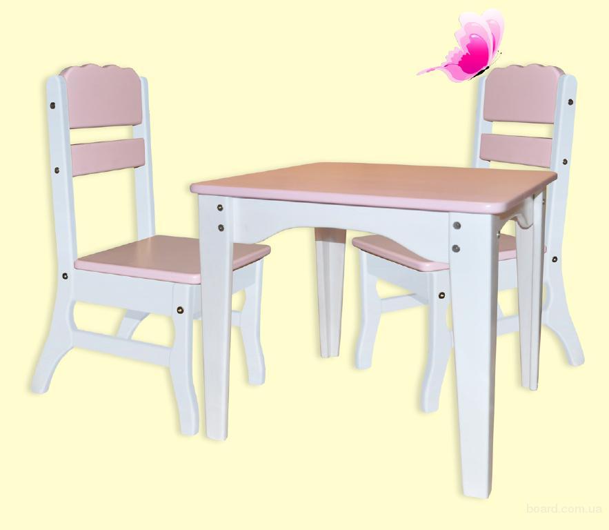 """Комплект мебели для детей """"Бабочка"""" - столик + 2 стульчика, детская мебель"""