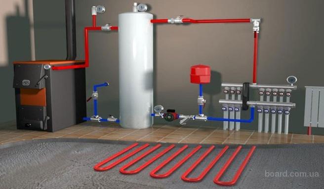 Установка и ремонт автономного газового отопления в Одессе