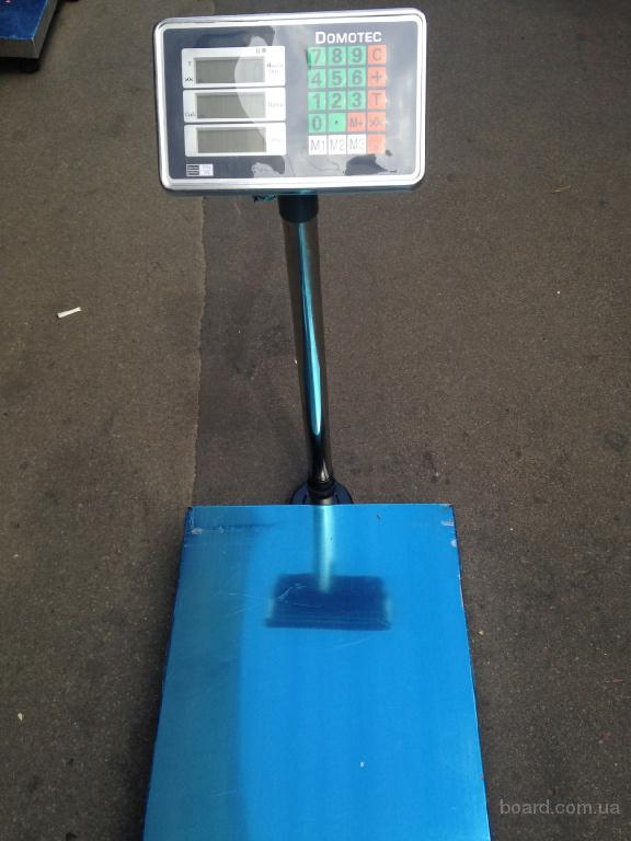 Весы торговые напольные( ваги для торгівлі) Domotec 150,300 кг