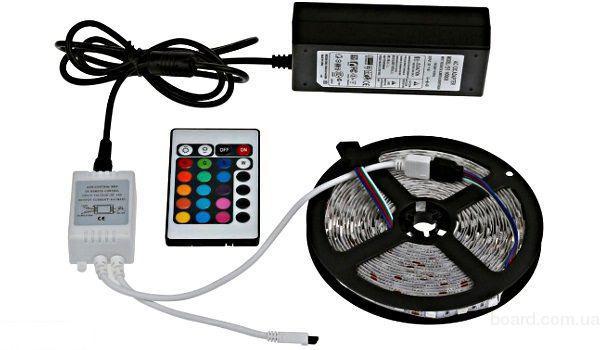 Светодиодная лента RGB 5050 полный комплект 5м с силиконовым покрытием
