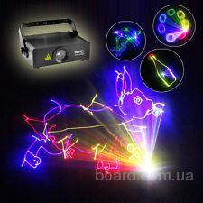 Анимационная полноцветная лазерная установка Reke 500 RGB (300mW 650nm красный, 50mW 532nm зеленый, 150mW 450nm синий)