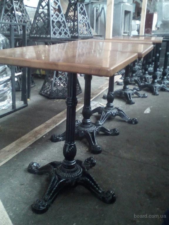Столы с металлической ножкой бу для кафе