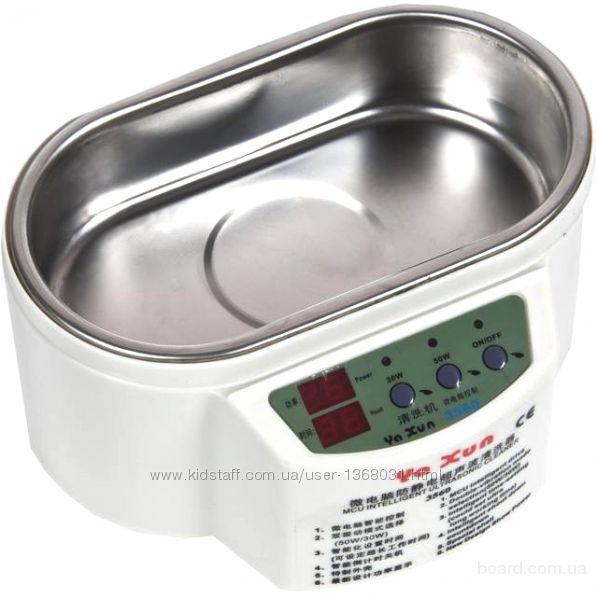 Ультразвуковая ванна Ya Xun – 3560   Бюджетная ультразвуковая ванна снабжена светодиодными индикаторами и дисплеем, с двумя режимами работы (30 и 50 В