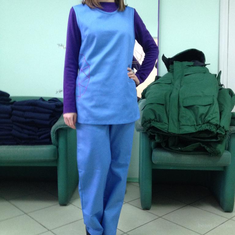 комплект для уборщицы,горничной под заказ,куртка и брюки для обслуживающего персонала