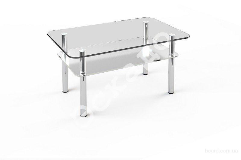 столы стеклянные журнальные прямоугольные, стеклянный кухонный стол Киев