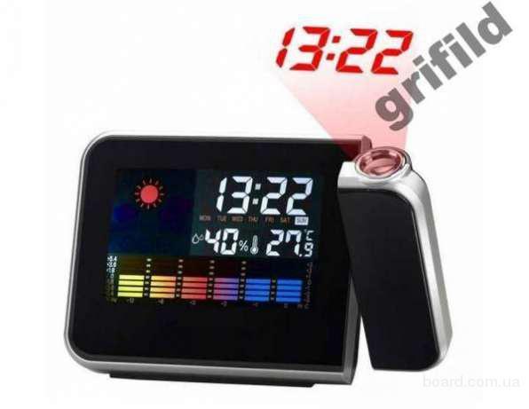 Часы метеостанция с проектором времени