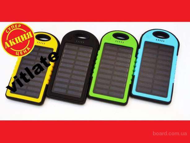 Солнечное зарядное устройство Power Bank 5000mAh