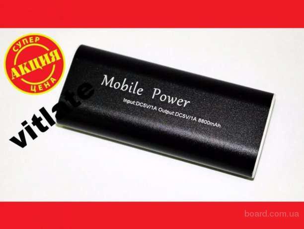 Компактный Power Bank портативное зарядное 8800mAh