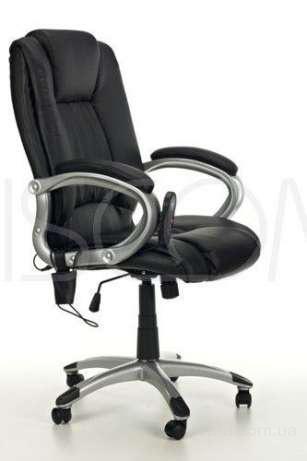 Кресло офисное массаж Manline (черное)