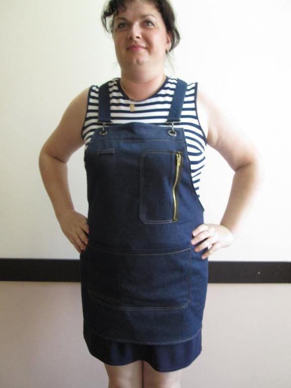 фартук джинсовый, фартук с нагрудником,джинсовая униформа
