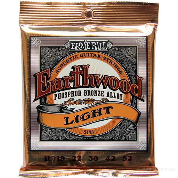 Струны Ernie Ball 2148 Earthwood Phosphor Bronze 11-52