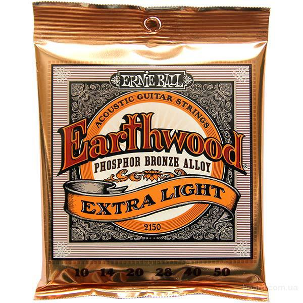Струны Ernie Ball 2150 Earthwood Phosphor Extra Light 10-50