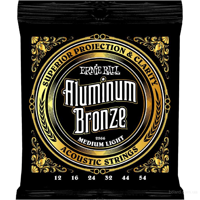 Струны Ernie Ball Aluminum Bronze 2566 Medium Light 12-54